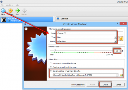 How to run Chrome OS from USB - create chrome os on virtualbox