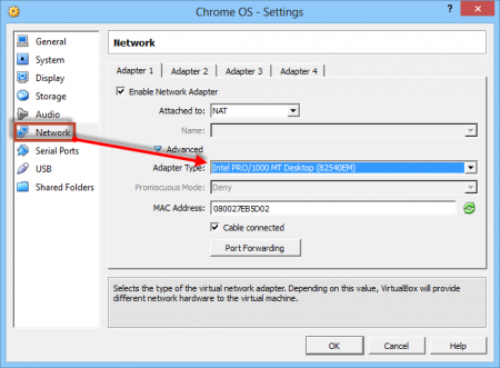 How to run Chrome OS from USB - network settings
