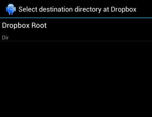 backup your android folders to dropbox - 08